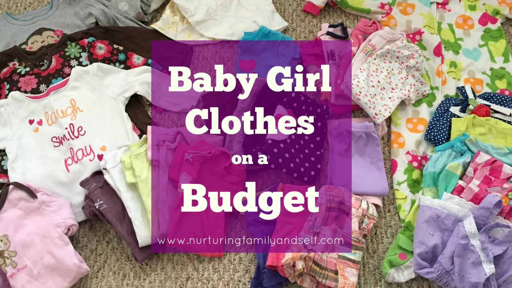 Baby Girl Clothes on a Budget Featured Image