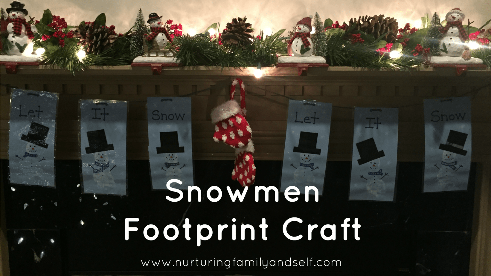 How to Make A Winter Decoration Using Footprint Snowmen